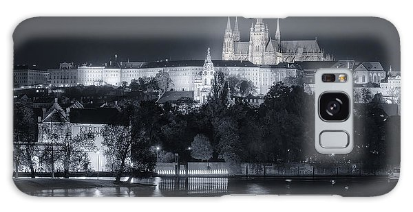Galaxy Case featuring the photograph Prague Castle At Night by Joan Carroll