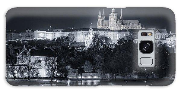 Prague Castle At Night Galaxy Case