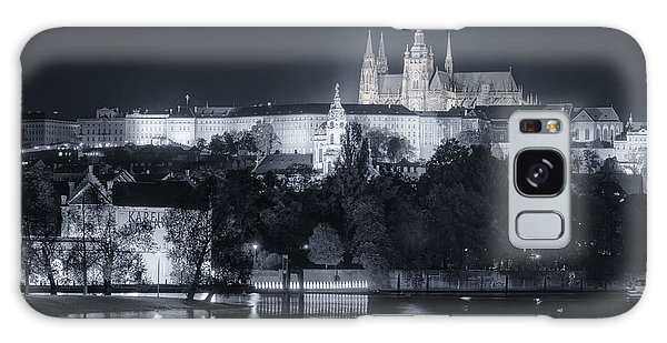 Prague Castle At Night Galaxy Case by Joan Carroll