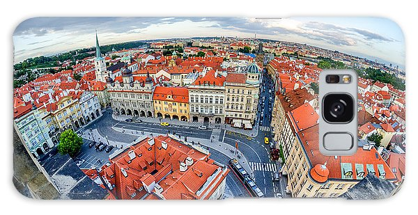 Prague From Above Galaxy Case