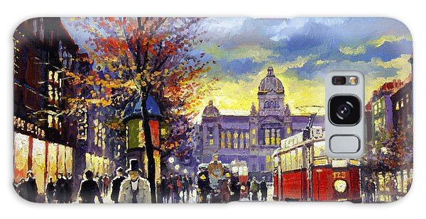 People Galaxy Case - Prague Vaclav Square Old Tram Imitation By Cortez by Yuriy Shevchuk