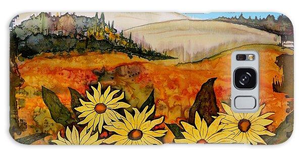 Prairie Wildflowers Galaxy Case by Carolyn Doe