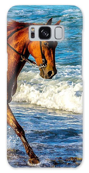 Prancing In The Sea Galaxy Case by Shannon Harrington