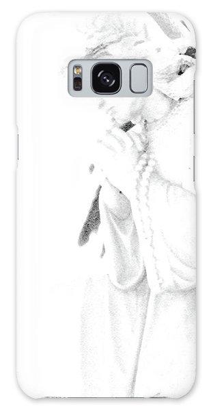 Pray Galaxy Case by Linda Shafer