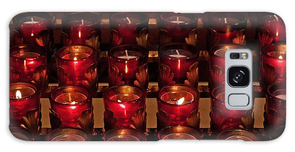 Prayer Candles Galaxy Case by Suzanne Stout