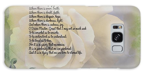 Prayer Of St. Francis And Yellow Rose Galaxy Case