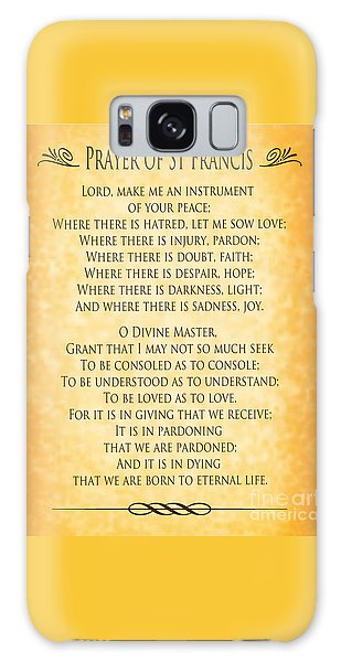 Prayer Of St Francis - Pope Francis Prayer - Gold Parchment Galaxy Case