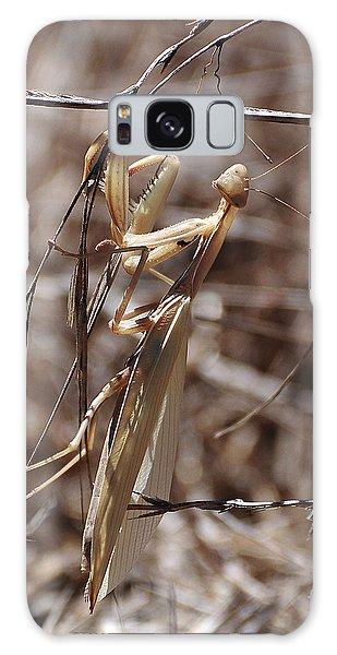 Praying Mantis Blending In Galaxy Case