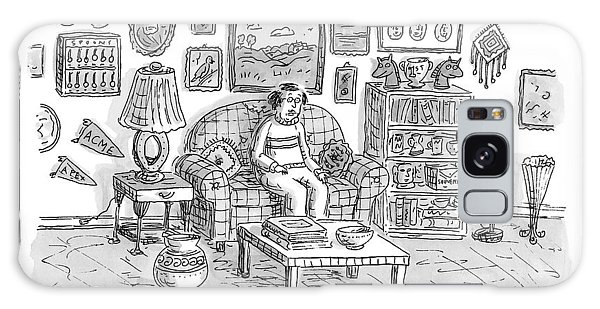 Bay Galaxy Case - Pre-bay -- A Man Sits In Living Room Full by Roz Chast