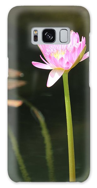 Precious Purple Water Lilly Galaxy Case by Bill Woodstock