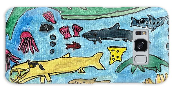 Prehistoric Sea Galaxy Case by Artists With Autism Inc