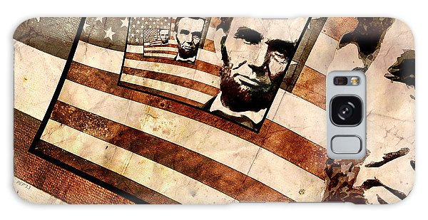 President Abraham Lincoln Galaxy Case by Phil Perkins