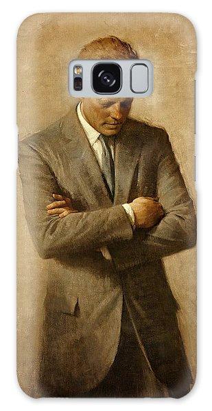 President John F. Kennedy Official Portrait By Aaron Shikler Galaxy Case