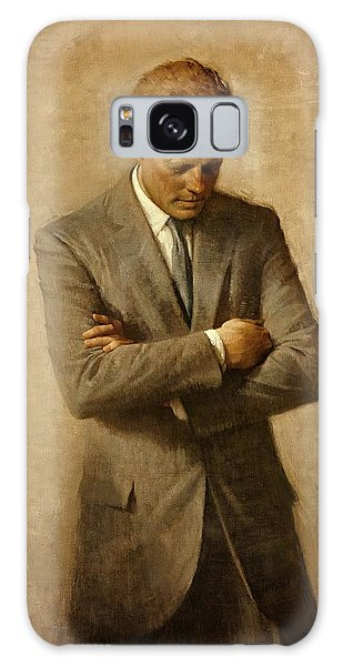 President John F. Kennedy Official Portrait By Aaron Shikler Galaxy Case