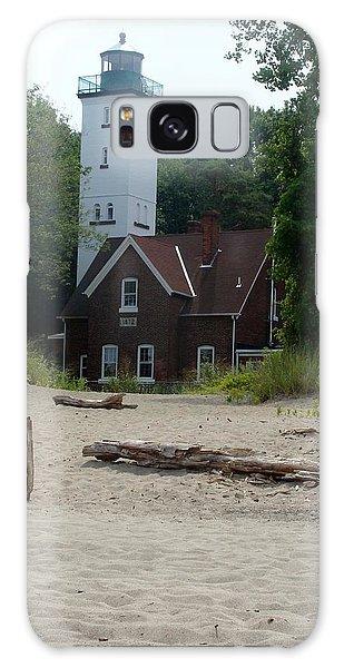 Presque Isle Lighthouse Galaxy Case