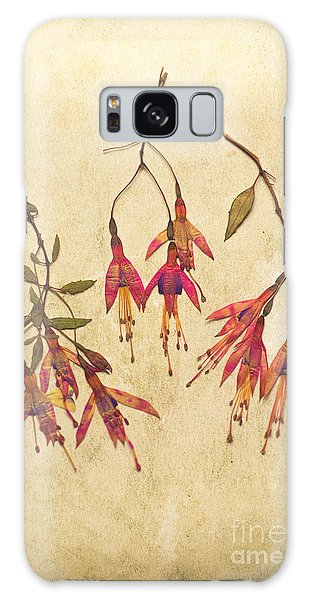Pressed Fuchsia Flowers Galaxy Case