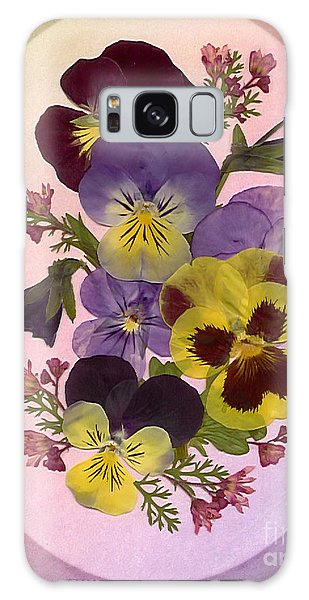 Pressed Pansies Galaxy Case