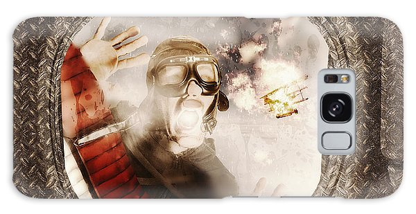 Pilot Galaxy Case - Pressing Issues Of A Window Pow by Jorgo Photography - Wall Art Gallery