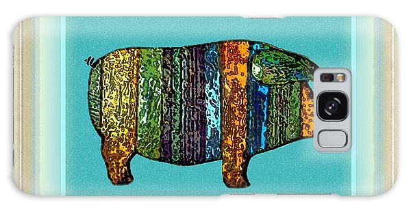 Pretty As A Pig-ture Galaxy Case by Dale   Ford