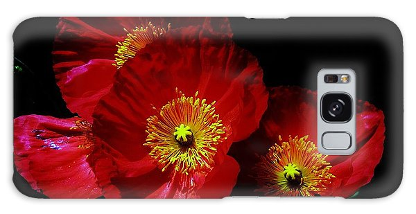 Pretty As A Poppy Galaxy Case