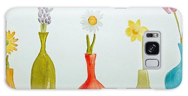 Pretty Flowers In A Row Galaxy Case