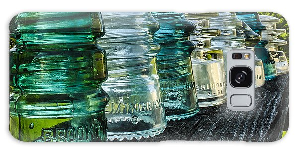 Pretty Glass Insulators All In A Row Galaxy Case