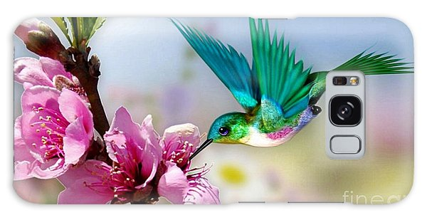 Pretty Hummingbird Galaxy Case by Morag Bates