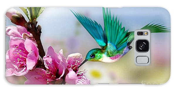 Pretty Hummingbird Galaxy Case