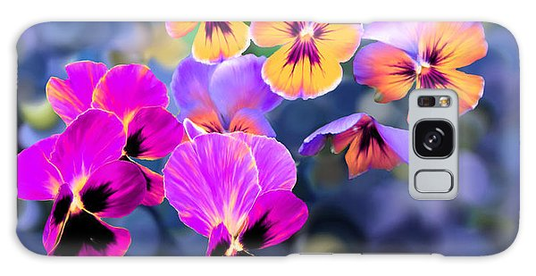Pretty Pansies 3 Galaxy Case
