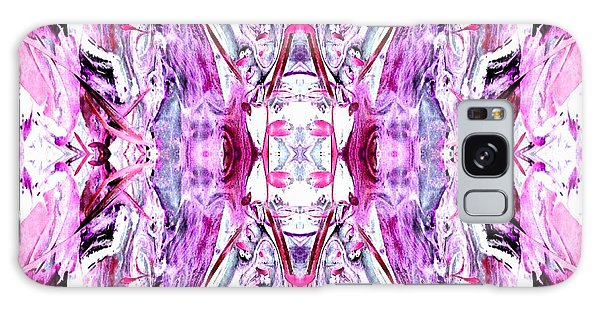 Pretty Pink Weeds Abstract  2 Galaxy Case