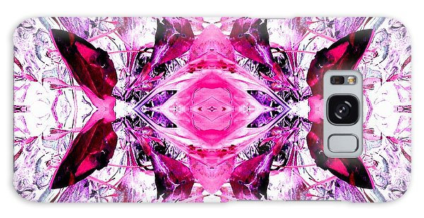 Pretty Pink Weeds Abstract  3 Galaxy Case