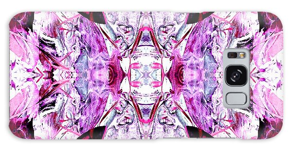Pretty Pink Weeds Abstract  4 Galaxy Case