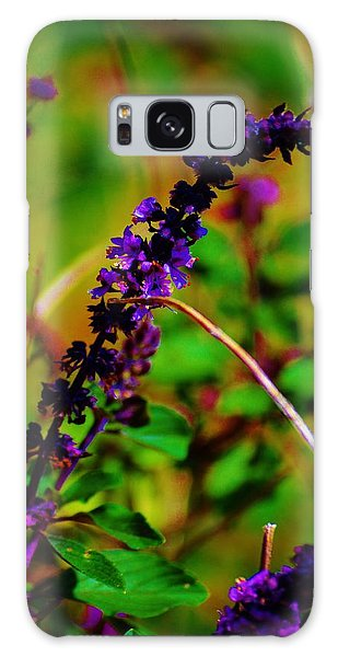 Pretty Purple Plant Galaxy Case