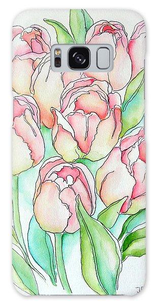 Pretty Tulips Galaxy Case