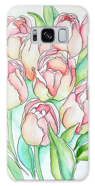 Pretty Tulips Galaxy Case
