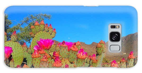 Prickly Pear Blooming Galaxy Case