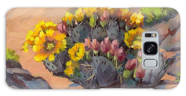 Prickly Pear Cactus In Bloom Galaxy Case