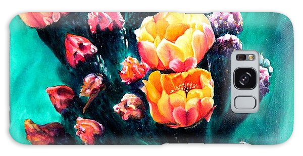 Prickly Pear Cactus Painting Galaxy Case