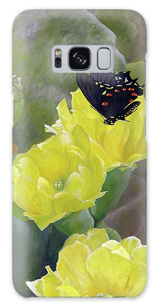 Prickly Pear Flower Galaxy Case