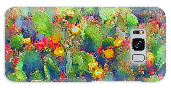 Prickly Pear Painting Galaxy Case