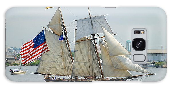 Pride Of Baltimore II Passing By Fort Mchenry Galaxy Case