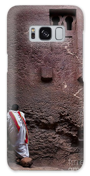Priest Praying Outside Church In Lalibela Ethiopia Galaxy Case