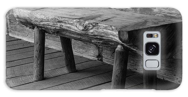 Primitive Wooden Bench Galaxy Case by Robert Hebert