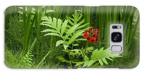 Primrose Amidst Ferns Galaxy Case