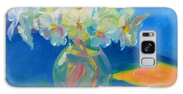 Primroses In Spring Light - Still Life Galaxy Case