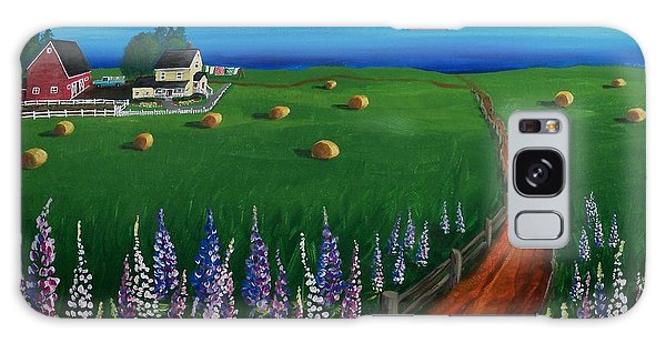 Prince Edward Island Coastal Farm Galaxy Case