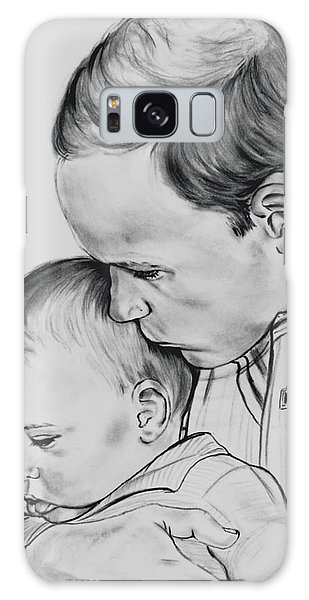 Prince William Holding Prince George Galaxy Case by Barb Baker