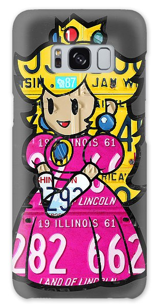 Princess Peach From Mario Brothers Nintendo Recycled License Plate Art Portrait Galaxy Case by Design Turnpike