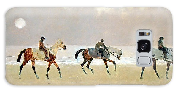 Princeteau's Riders On The Beach At Dieppe Galaxy Case by Cora Wandel