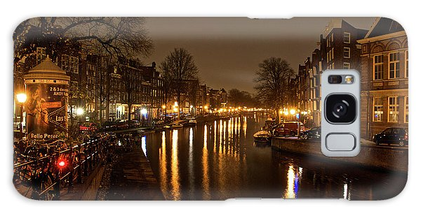 Prinsengracht Canal After Dark Galaxy Case